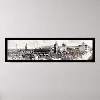 El templo mormón pone a tierra la foto 1912 póster