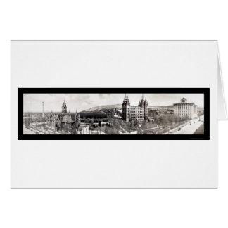 El templo mormón pone a tierra la foto 1912 tarjeta de felicitación