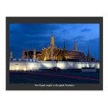 El templo real en Bangkok Tailandia Postal