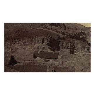 El templo talló en la ladera, Egipto circa 1856 Tarjetas De Visita