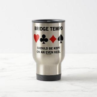 El tempo del puente se debe guardar en incluso una taza de café