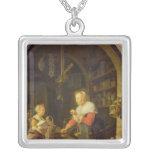 El tendero del pueblo, 1647 colgante cuadrado
