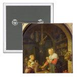 El tendero del pueblo, 1647 pin cuadrada 5 cm