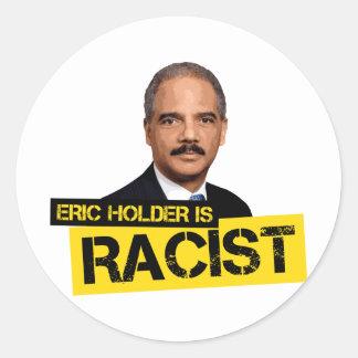 El tenedor de Eric es racista Pegatinas Redondas