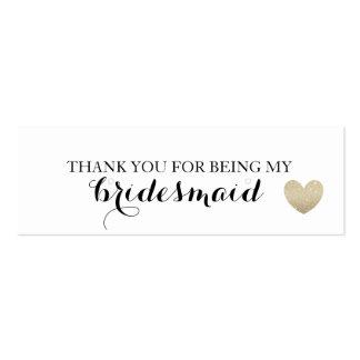 El tenedor del pendiente/le agradece - corazón tarjetas de visita mini