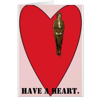 el tener-uno-corazón, tiene un corazón tarjetas
