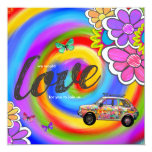 El teñido anudado del hippy de la CROMATOGRAFÍA Invitación 13,3 Cm X 13,3cm