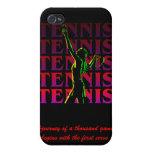 el tenis 1 de las mujeres del caso del iPhone oscu iPhone 4 Protectores
