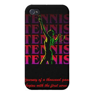 el tenis 1 de las mujeres del caso del iPhone oscu iPhone 4 Carcasas