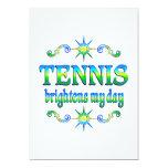 El tenis aclara invitación 12,7 x 17,8 cm