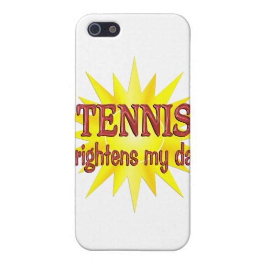 El tenis aclara mi día iPhone 5 carcasa