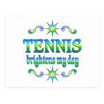 El tenis aclara postal