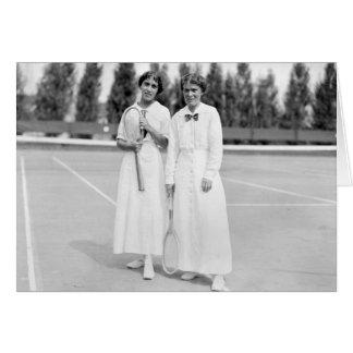 El tenis Champions, 1913 de las mujeres Tarjetón
