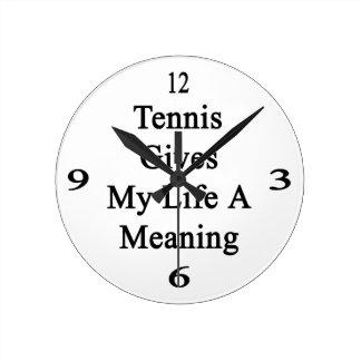 El tenis da a mi vida un significado relojes