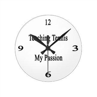 El tenis de enseñanza es mi pasión relojes de pared