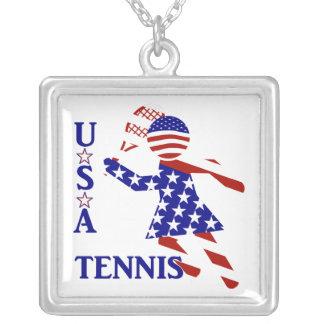 El tenis de las mujeres de los E.E.U.U. Colgante Cuadrado
