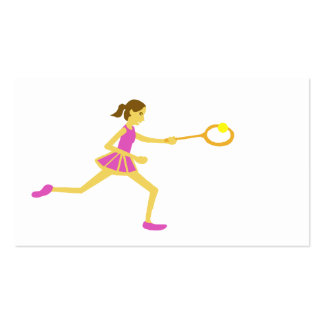 El tenis de las mujeres plantillas de tarjetas de visita