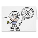 El tenis de los niños tarjetón