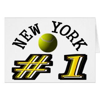 El tenis de Nueva York es el número 1 Tarjeta De Felicitación