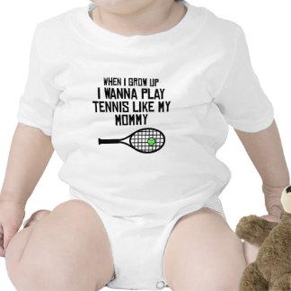 El tenis del juego tiene gusto de mi mamá traje de bebé