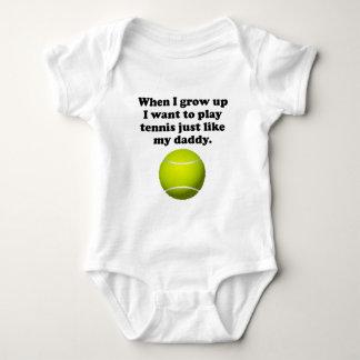 El tenis del juego tiene gusto de mi papá body para bebé