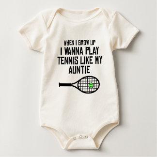 El tenis del juego tiene gusto de mi tía body para bebé