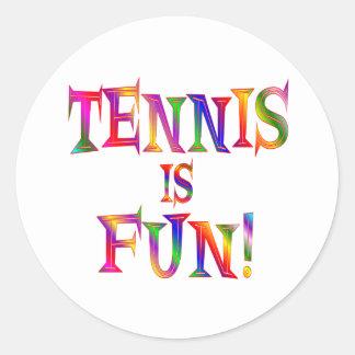 El tenis es diversión etiquetas
