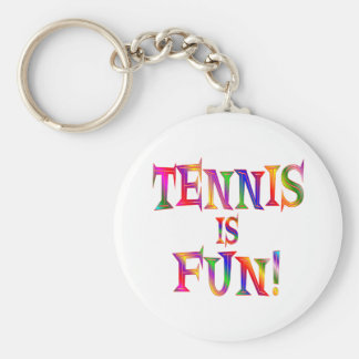 El tenis es diversión llavero redondo tipo pin