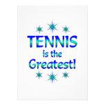 El tenis es el más grande invitaciones personales