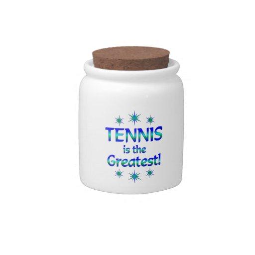 El tenis es el más grande jarra para caramelo