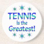 El tenis es el más grande posavasos personalizados