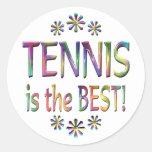 El tenis es el mejor pegatina redonda
