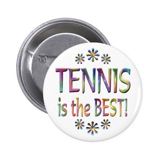 El tenis es el mejor pin redondo 5 cm
