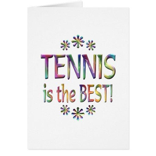 El tenis es el mejor tarjetas