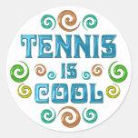 El tenis es fresco pegatinas redondas