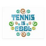 El tenis es fresco postal