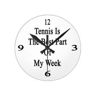 El tenis es la mejor parte de mi semana