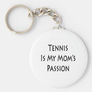 El tenis es la pasión de mi mamá llavero redondo tipo pin