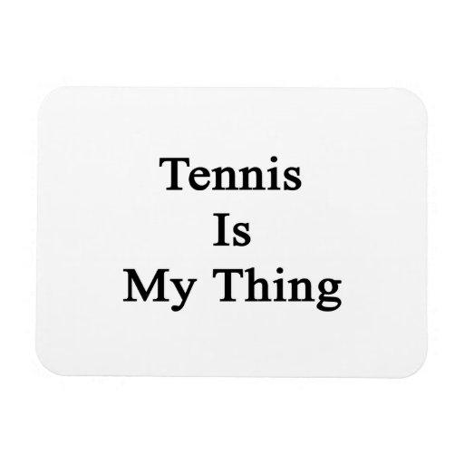 El tenis es mi cosa rectangle magnet