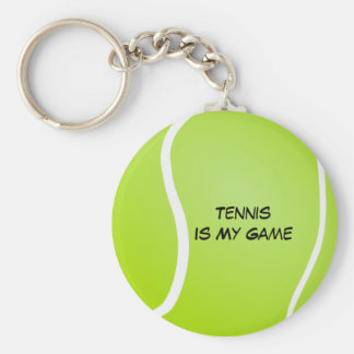 El tenis es mi juego llavero redondo tipo pin