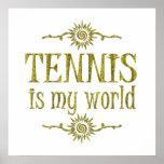 El tenis es mi mundo posters