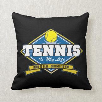 El tenis es mi vida cojin