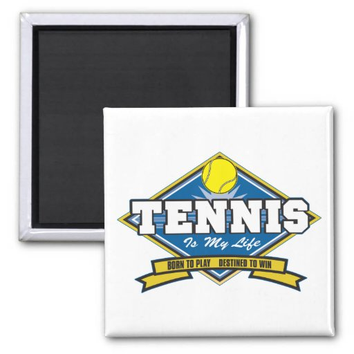 El tenis es mi vida imán de frigorífico