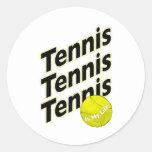 El tenis es mi vida pegatina redonda