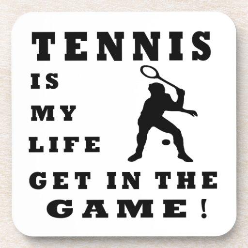 El tenis es mi vida posavasos