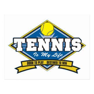 El tenis es mi vida tarjeta postal