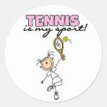 El tenis es mis pegatinas del deporte etiquetas redondas