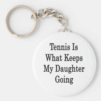 El tenis es qué guarda mi ir de la hija llavero redondo tipo pin