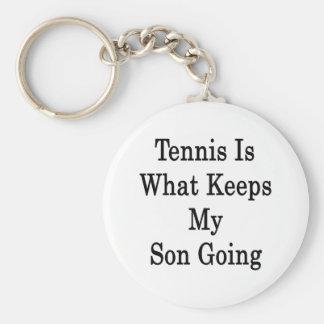El tenis es qué guarda mi ir del hijo llavero redondo tipo pin