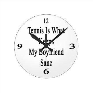 El tenis es qué mantiene a mi novio sano relojes de pared